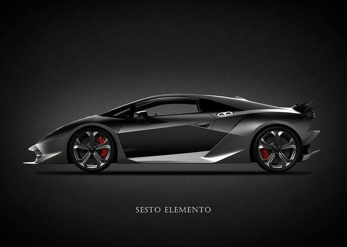 Lamborghini Sesto Elemento Greeting Card For Sale By Mark Rogan