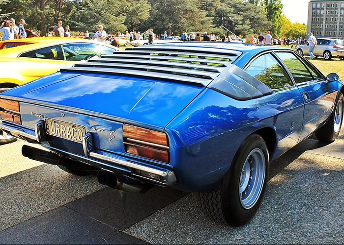 Lamborghini Urraco P250s Rear Greeting Card For Sale By Anthony Croke
