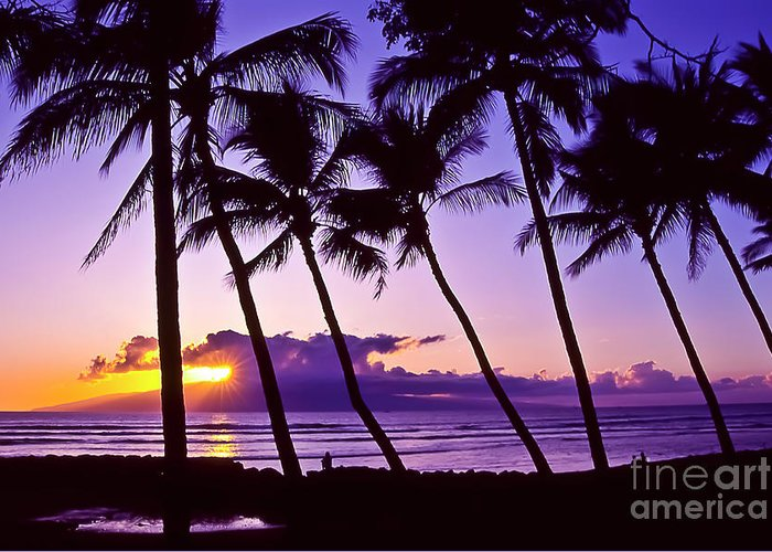 Landscapes Greeting Card featuring the photograph Lanai Sunset by Jim Cazel