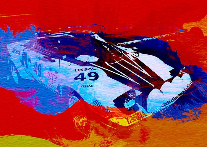 Lacia Stratos Greeting Card featuring the painting Lancia Stratos Watercolor 2 by Naxart Studio
