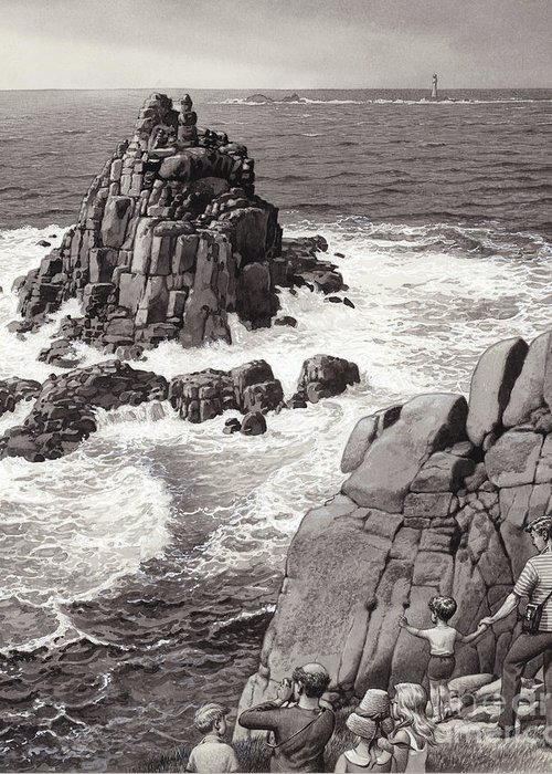 Seascape. Headland Greeting Cards