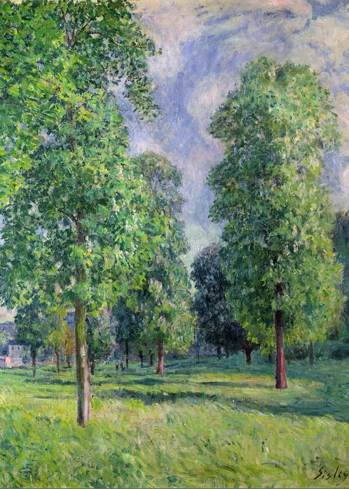 Landscape Greeting Card featuring the painting Landscape At Sevres by Alfred Sisley