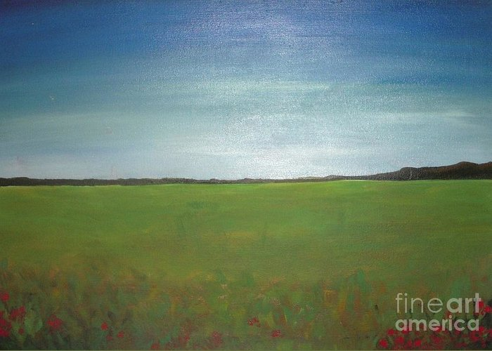 Landscape Greeting Card featuring the painting Landscape II by Vesna Antic