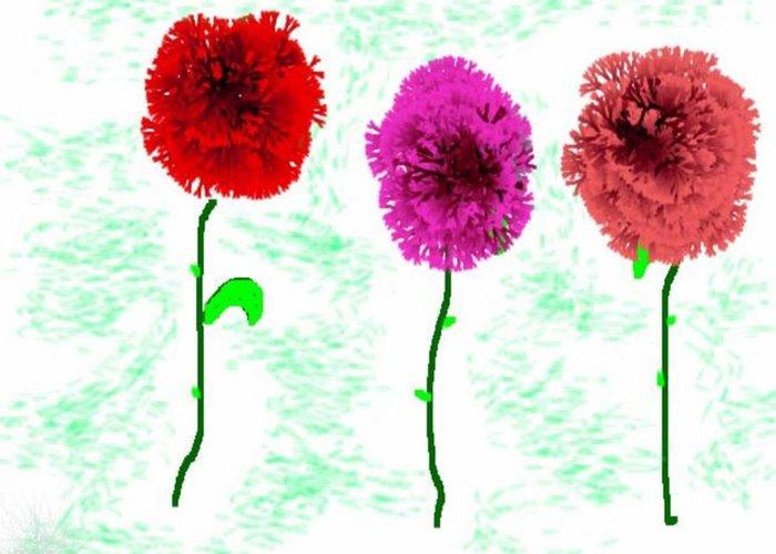 Flowers Greeting Card featuring the digital art Language Of Flowers by Dr Loifer Vladimir