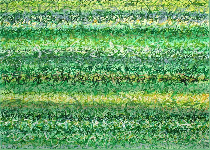 Grass Greeting Card featuring the painting Language Of Grass by Jason Messinger