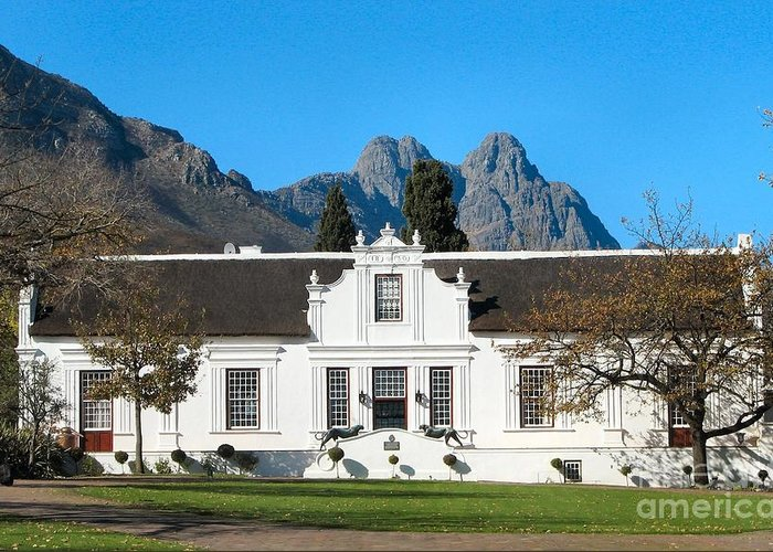 South Africa Greeting Card featuring the photograph Lanzerac Stellenbosch by Heather Nel