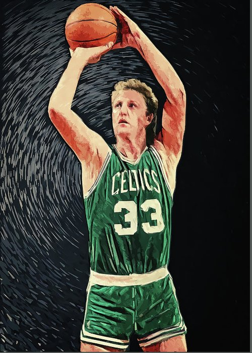 Boston Celtics Digital Art Greeting Cards