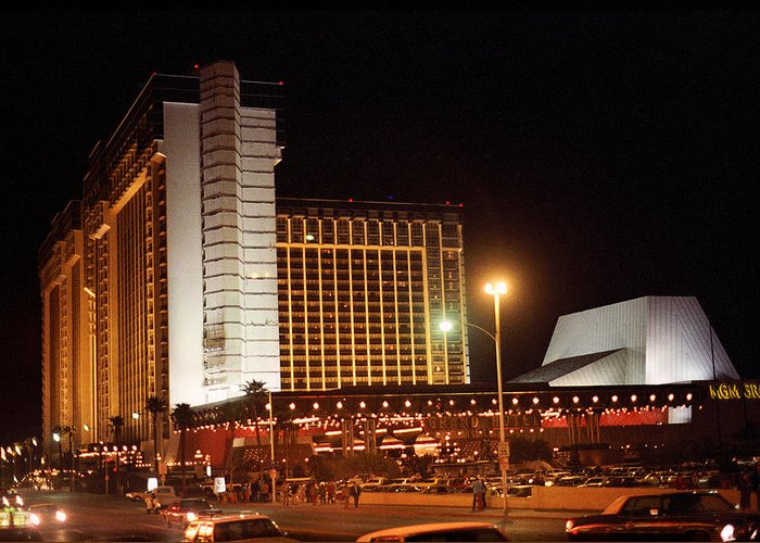 America Greeting Card featuring the photograph Las Vegas 1980 #11 by Frank Romeo
