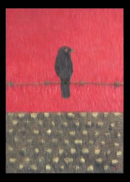 Berlin Wall Greeting Card featuring the painting Last Standoff by Anneliese Fritts