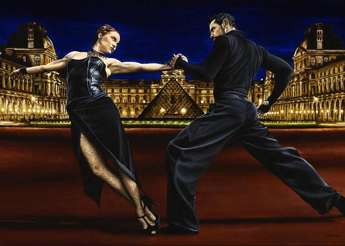 Tango Greeting Card featuring the painting Last Tango In Paris by Richard Young