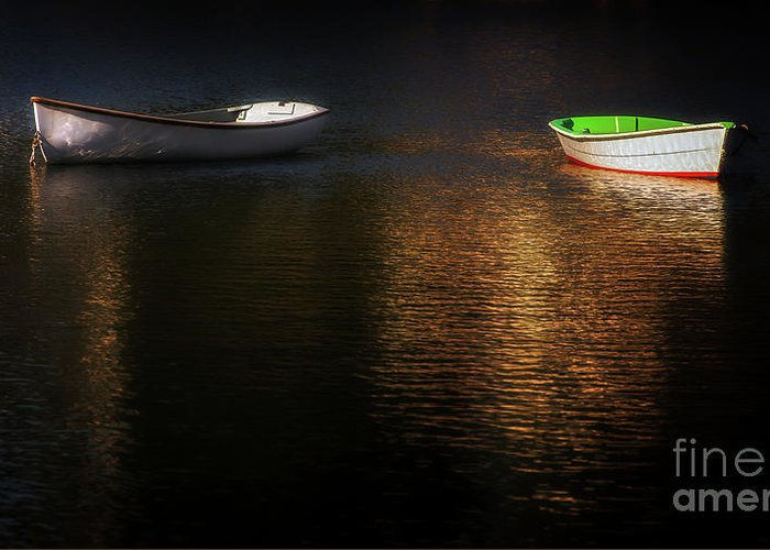 Boat Greeting Card featuring the photograph Late Afternoon Disagreement by Scott Thorp