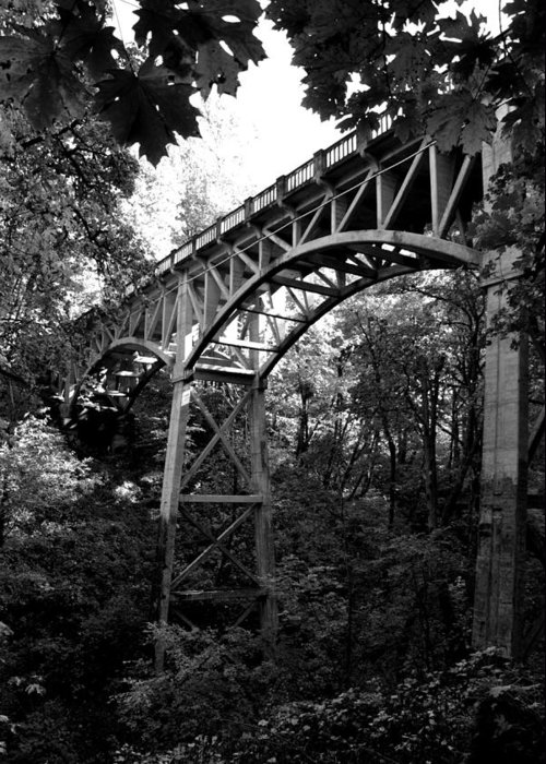 Latourell Falls Greeting Card featuring the photograph Latourell Bridge by Noah Cole