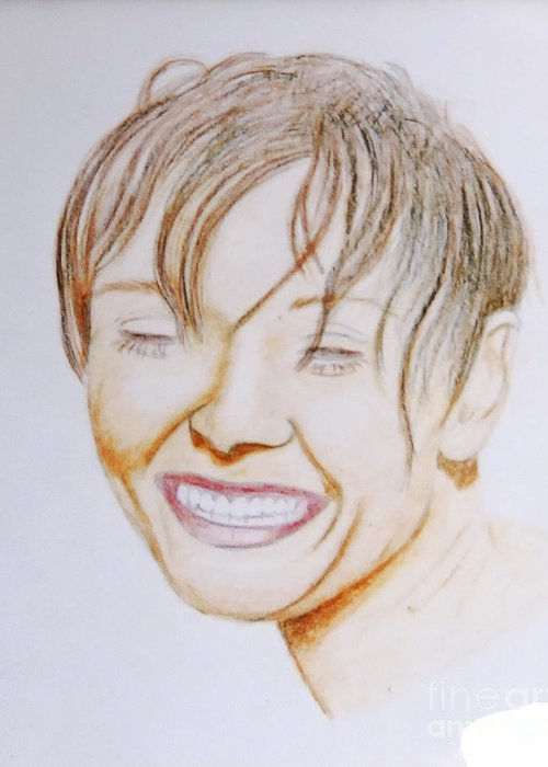 Face Recognition Drawings Greeting Cards