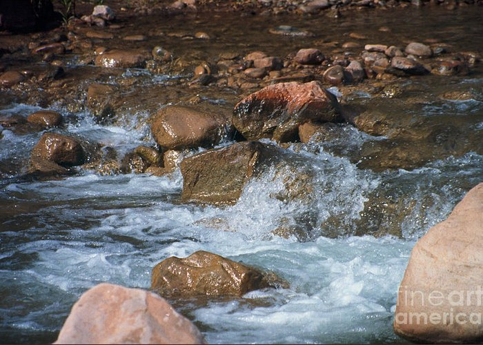 Creek Greeting Card featuring the photograph Laughing Water by Kathy McClure