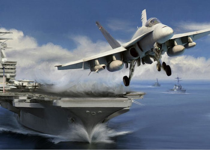 F-18 Greeting Card featuring the digital art Launch by Dale Jackson
