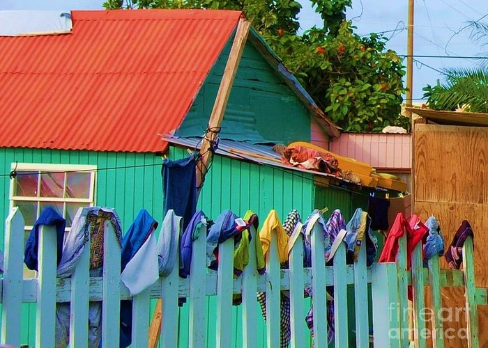 Clothes Greeting Card featuring the photograph Laundry Day by Debbi Granruth