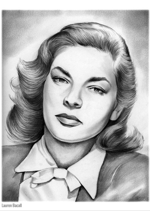Lauren Bacall Greeting Cards