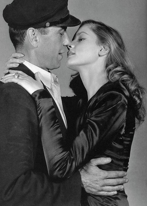 Lauren Bacall Humphrey Bogart To Have And Have Not 1944 Greeting Card featuring the photograph Lauren Bacall Humphrey Bogart To Have And Have Not 1944 by David Lee Guss