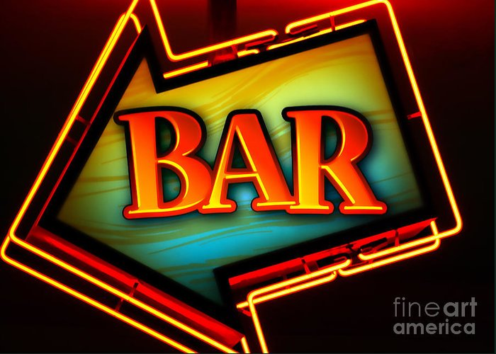 Bar Greeting Card featuring the photograph Laurettes Bar by Barbara Teller