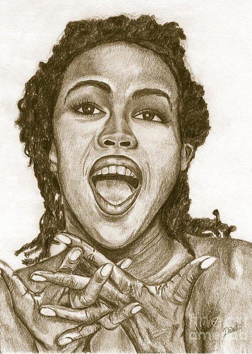 Lauryn Hill Greeting Cards