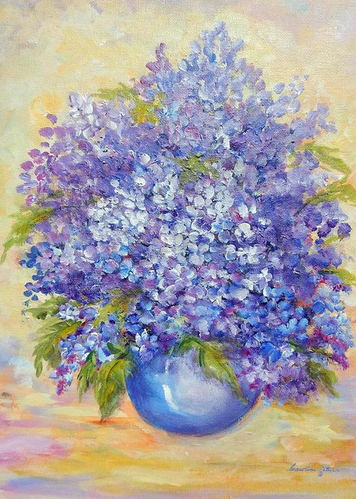 Plants Greeting Card featuring the painting Lavender by Caroline Patrick