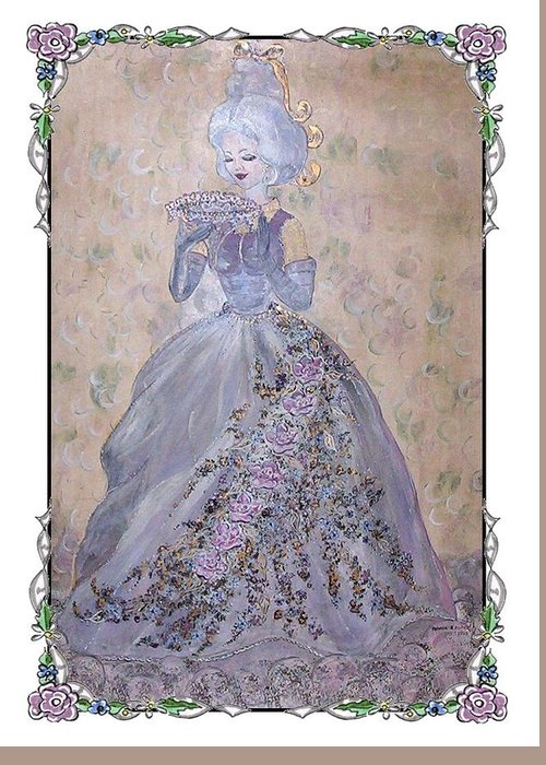 Still Life Greeting Card featuring the painting Lavender Lady by Phyllis Mae Richardson Fisher