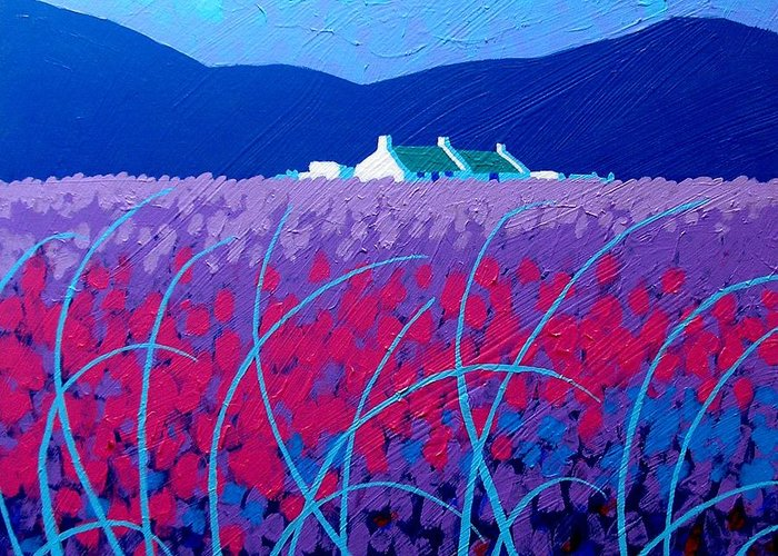 Ireland Greeting Card featuring the painting Lavender Scape by John Nolan