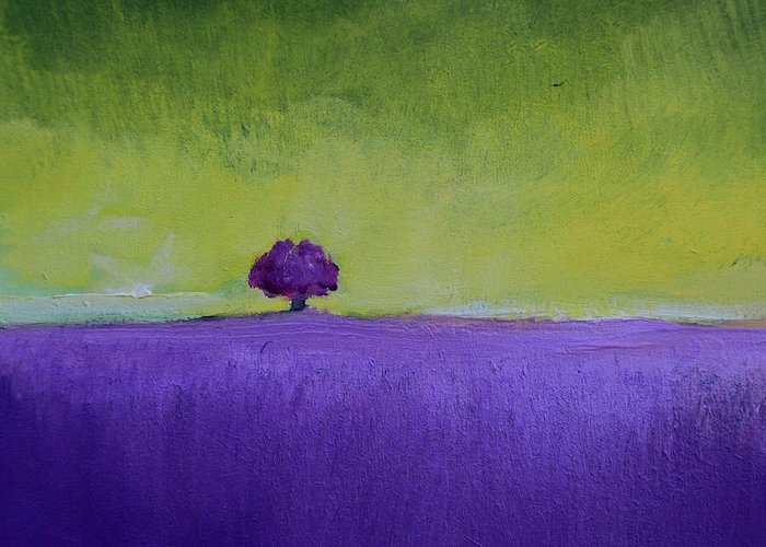 Impressionism Greeting Card featuring the painting Lavender Valley by Alicia Maury