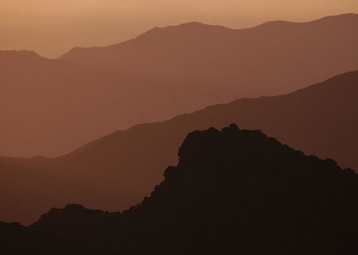 Mountains Greeting Card featuring the photograph Layers San Jacinto Mountains by Michael Ziegler