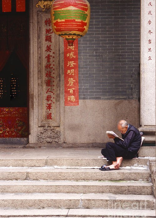 Hong Kong Greeting Card featuring the photograph Lazy Day In Hong Kong by Sandra Bronstein