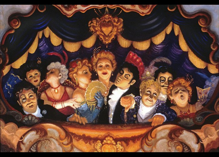 Opera Greeting Card featuring the painting Le Opera D' Lamour by Scott Jones