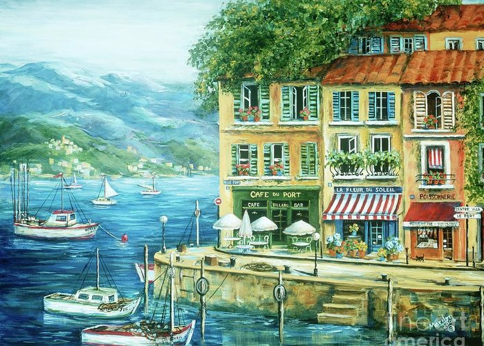 Europe Greeting Card featuring the painting Le Port by Marilyn Dunlap