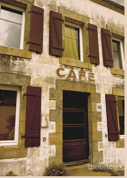 Alcohol Greeting Card featuring the photograph Le Vieux Cafe  The Old Cafe Bar by Mark Hendrickson