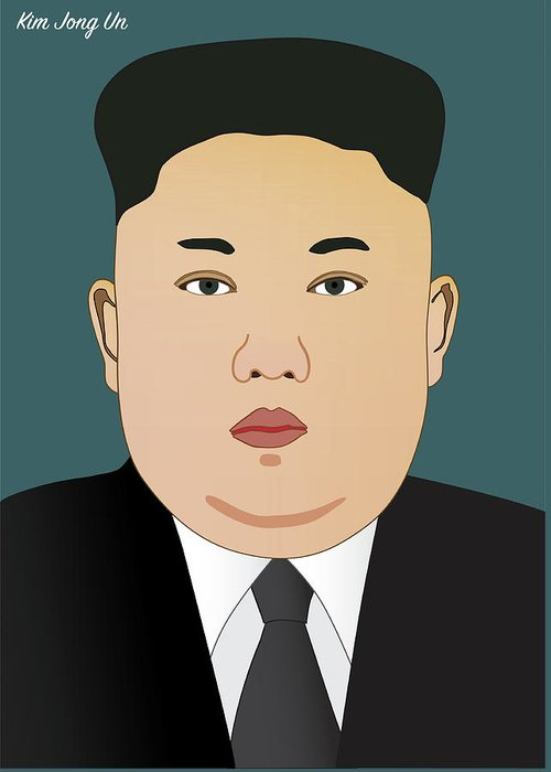 Leader kim jong un greeting card for sale by alain de maximy america greeting card featuring the drawing leader kim jong un by alain de maximy m4hsunfo