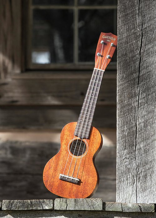 Ukulele Greeting Card featuring the photograph Leaning Uke by Keith May