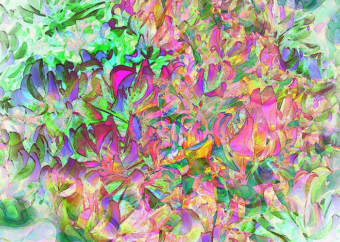 Leaves Greeting Card featuring the digital art Leaves And Colors by Juana Maria Garcia-Domenech