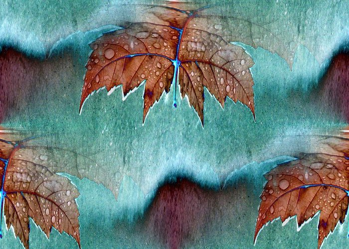 Leaves Greeting Card featuring the photograph Leaves And Rain 6 by Tim Allen