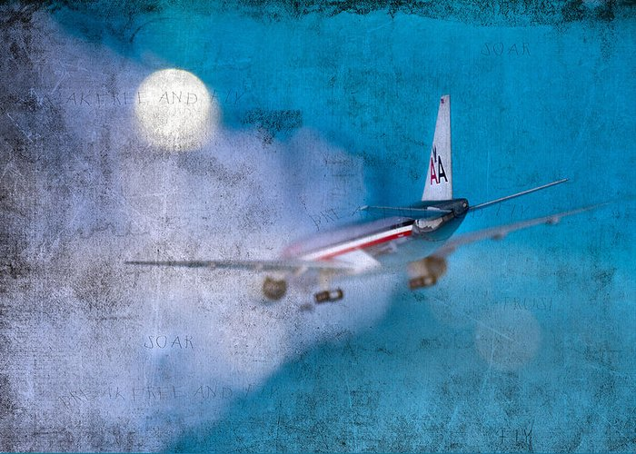 Plane Greeting Card featuring the photograph Leavin' On A Jet Plane by Rebecca Cozart