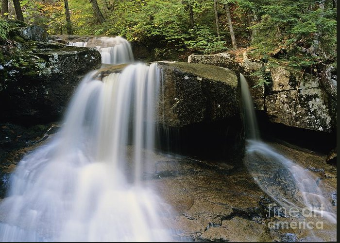 Wilderness Greeting Card featuring the photograph Ledge Brook - White Mountains New Hampshire Usa by Erin Paul Donovan