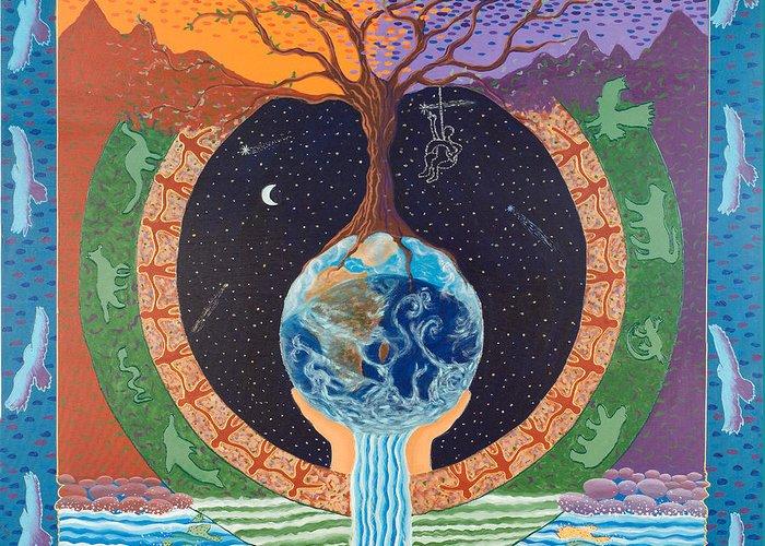 Mandala Greeting Card featuring the painting Legacy Mandala by Leti C Stiles