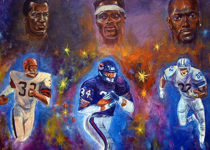 Sports Greeting Card featuring the painting Legends by Tommy Winn