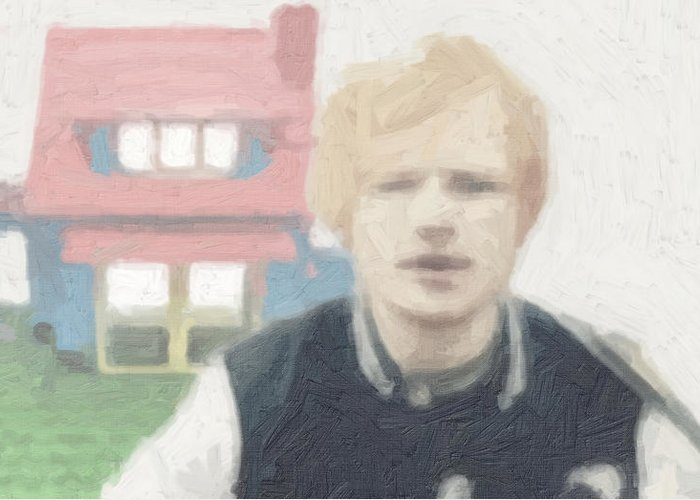 Ed Sheeran Greeting Card featuring the painting Lego House by Tilly Williams