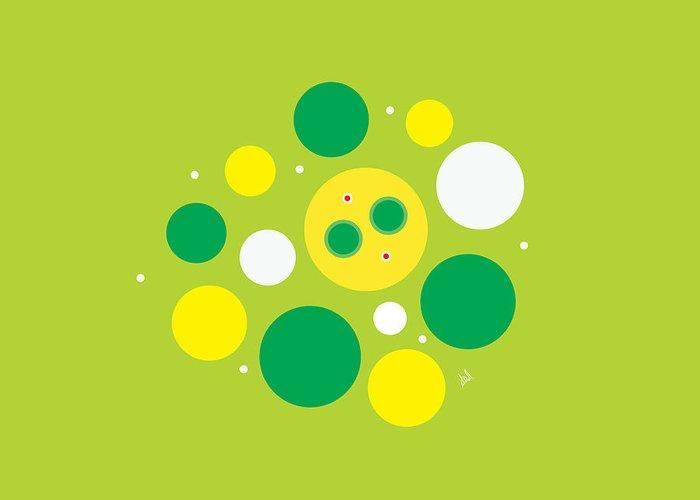 Lemon Lime Greeting Card featuring the digital art Lemon Lime Fizz by Diana De Avila