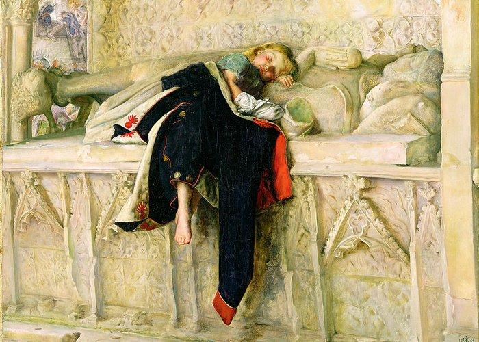 Xyc118544 Greeting Card featuring the painting L'enfant Du Regiment by Sir John Everett Millais
