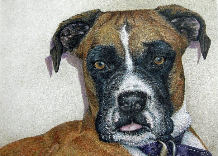 Fuqua - Artwork Greeting Card featuring the drawing Lennox by Beverly Fuqua