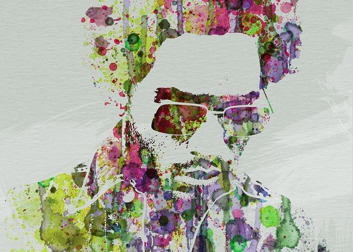 Lenny Kravitz Greeting Card featuring the painting Lenny Kravitz 2 by Naxart Studio