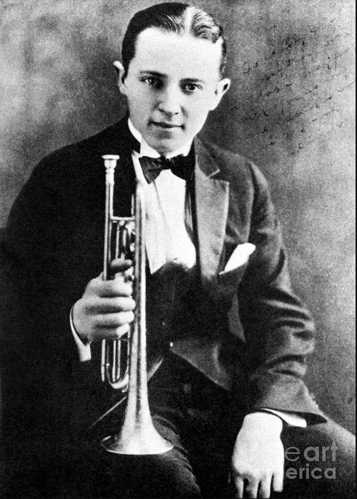 1924 Greeting Card featuring the photograph (leon) Bix Beiderbecke by Granger