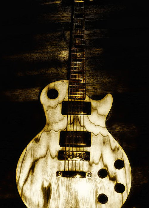 Les Paul Greeting Card featuring the photograph Les Paul Guitar by Bill Cannon