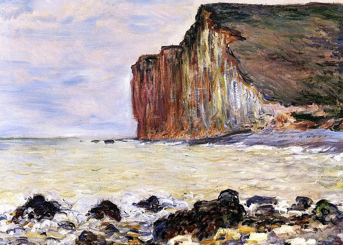 French Greeting Card featuring the painting Les Petites Dalles by Claude Monet
