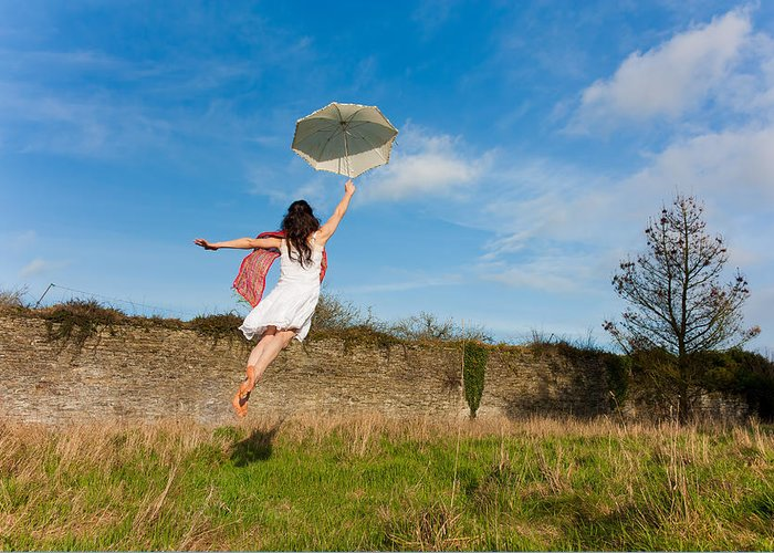 Brolly Greeting Card featuring the photograph Let The Breeze Guide You by Semmick Photo